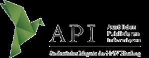 Das Logo des API Magazins, ein gruener Vogel neben dem API-Schriftzug
