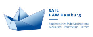 Logo des Studentischen Publikationsportal SAIL, ein kleines Papierfaltboot in blauem Verlauf